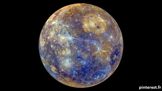 La planète Mercure vue par la NASA