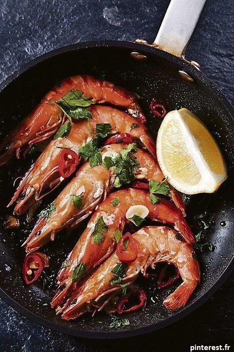 Les crevettes font parties des fruits de mer. Un plat gourmand à manger l'été