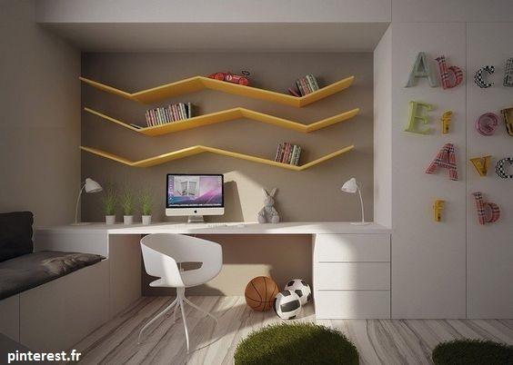 étagère murale pour séparer les espaces de chacun