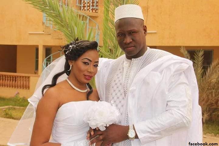 Halima Cissé et son mari le jour de leur mariage à Bamako