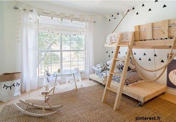 un lit palette est une excellente alternative quand on a pas un gros budget pour la déco