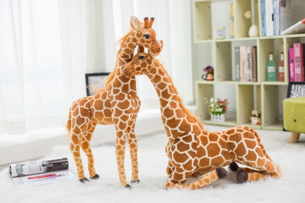 La peluche girafe