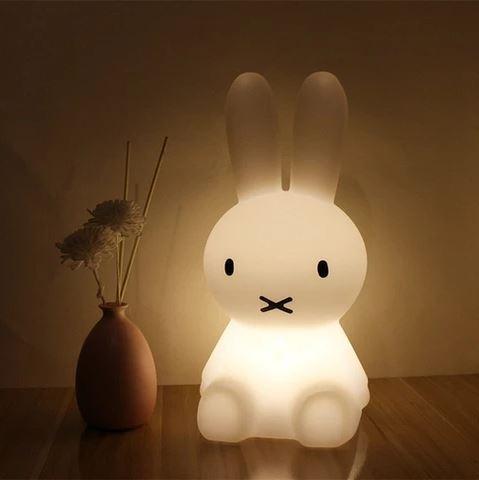 Aujourd'hui,le petit lapin Miffy est un succès mondial qui devient lumière dans la sublime collection imaginée par Mr Maria! En lampe à poser , Miffy saura accompagner vos enfants dans leurs plus belles histoires pourdes nuits bercées de doux rêves.